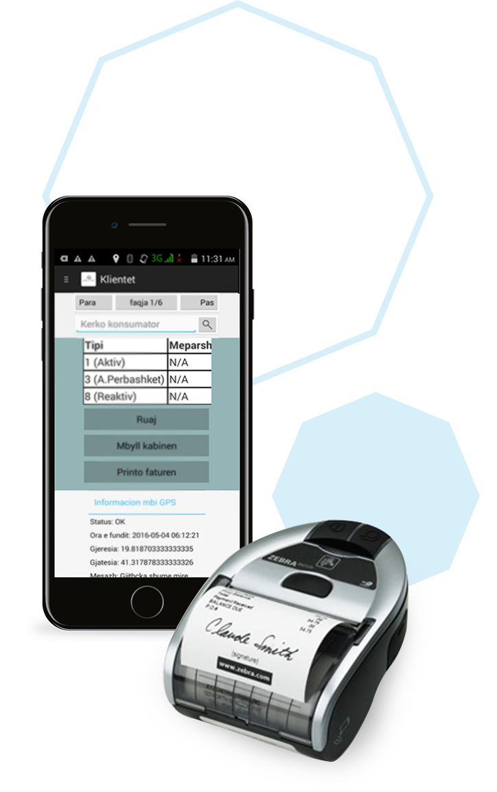Meters reading and meter data management